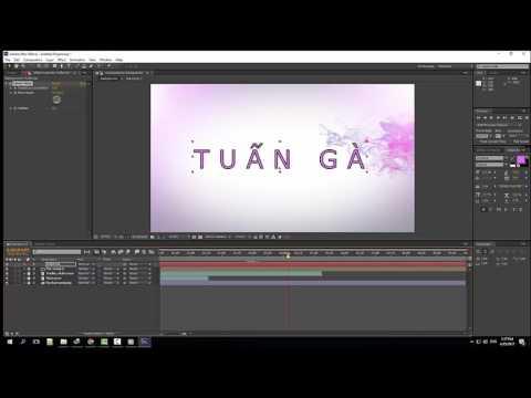 Hướng dẫn làm intro đơn giản bằng phần mềm After Effects CS6 - After Effects Tutorial