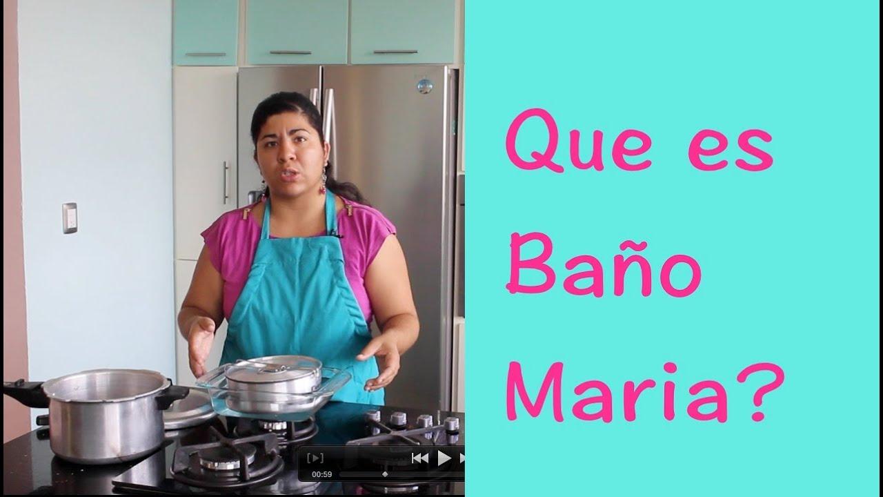 Cmo cocinar a bao Maria  Que es bao Maria  La receta