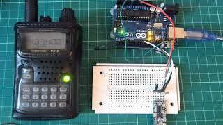 simple test 433Mhz HC-12 module, bitrate 1200bps, pwr 25mW