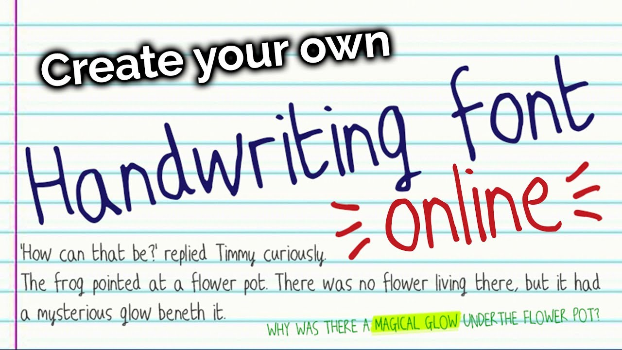 How to create your own font