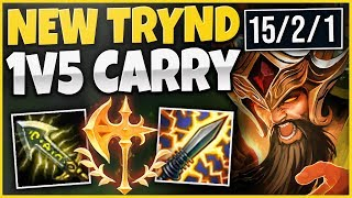 THIS NEW SEASON 9 TRYNDAMERE BUILD IS UNSTOPPABLE! INSANE 1V5 CARRY! - League of Legends