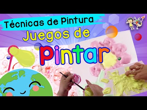 juegos para pintar t cnicas de pintura para ni os youtube. Black Bedroom Furniture Sets. Home Design Ideas