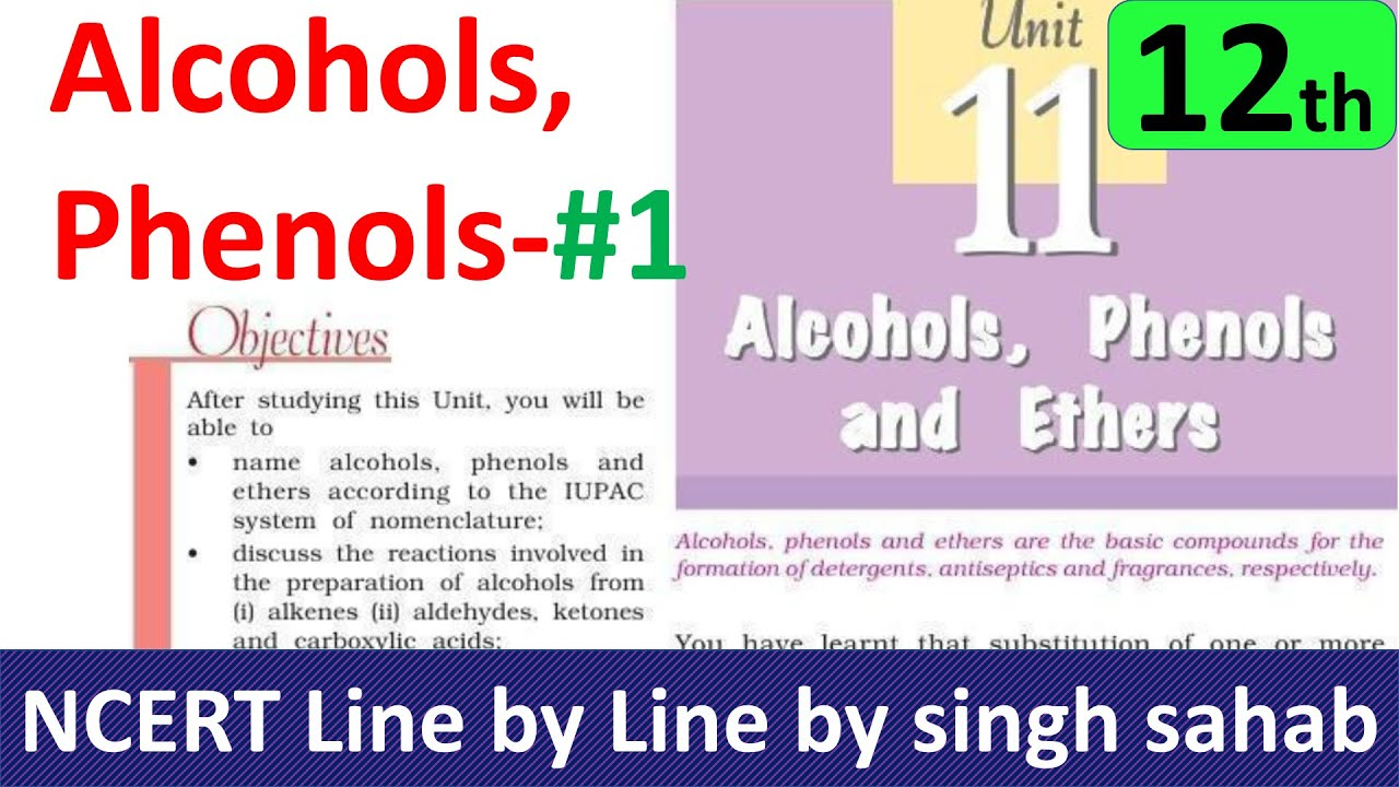 NCERT Solutions for Class 12 Chemistry Chapter 11 Alcohols Phenols