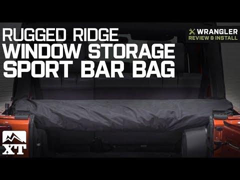 Jeep Wrangler Rugged Ridge Window Storage Sport Bar Bag - Black (2007-2018 JK & JL) Review & Install