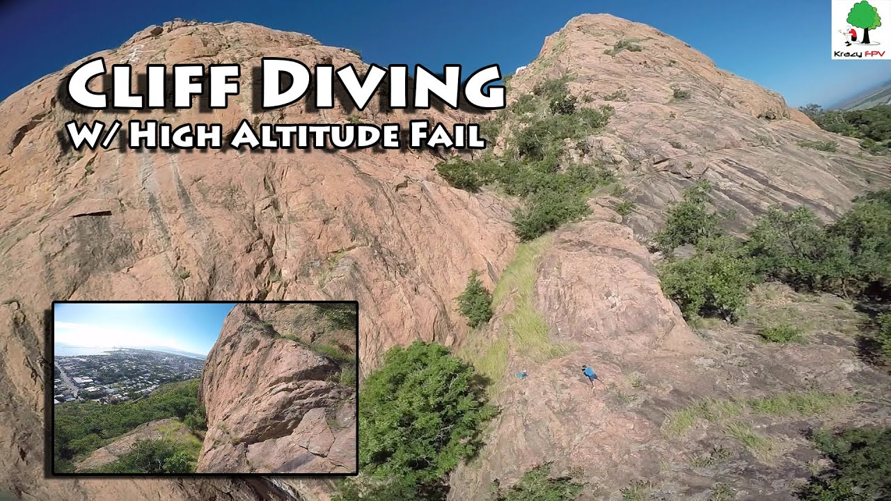 Cliff diving fpv with high altitude fail youtube - Highest cliff dive ever ...
