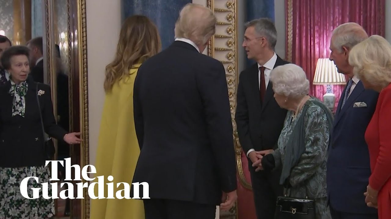 Princess Anne shrugs as Queen gestures for her to greet Donald ...