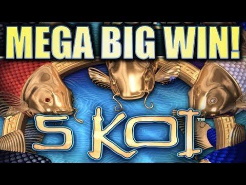 ★MEGA BIG WIN!★ 5 KOI DELUXE (LEGENDS) 🐟 Slot Machine Bonus (Aristocrat) REPOST