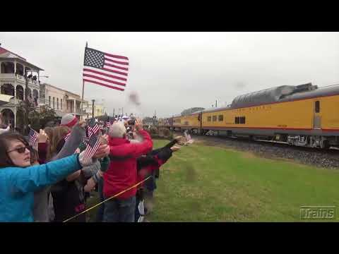 President George H.W. Bush funeral train video