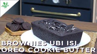 Brownies Ubi Isi Oreo Cookie Butter