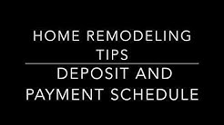Deposit and Payment Schedule