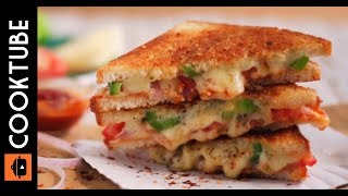 Cheesy Sandwich by kitchen with amna