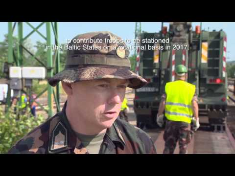 Hungarian military equipment is transported by rail to Estonia