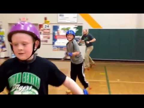 Triton Central Elementary School Rollerskating grade 4 Mr Smith