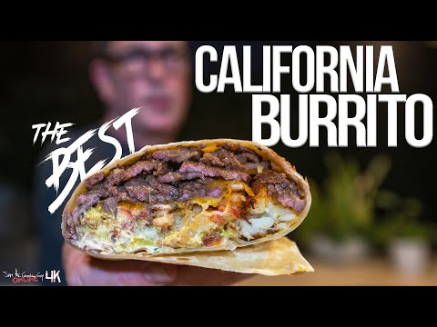 The Best California Burrito|SAM THE COOKING GUY 4K