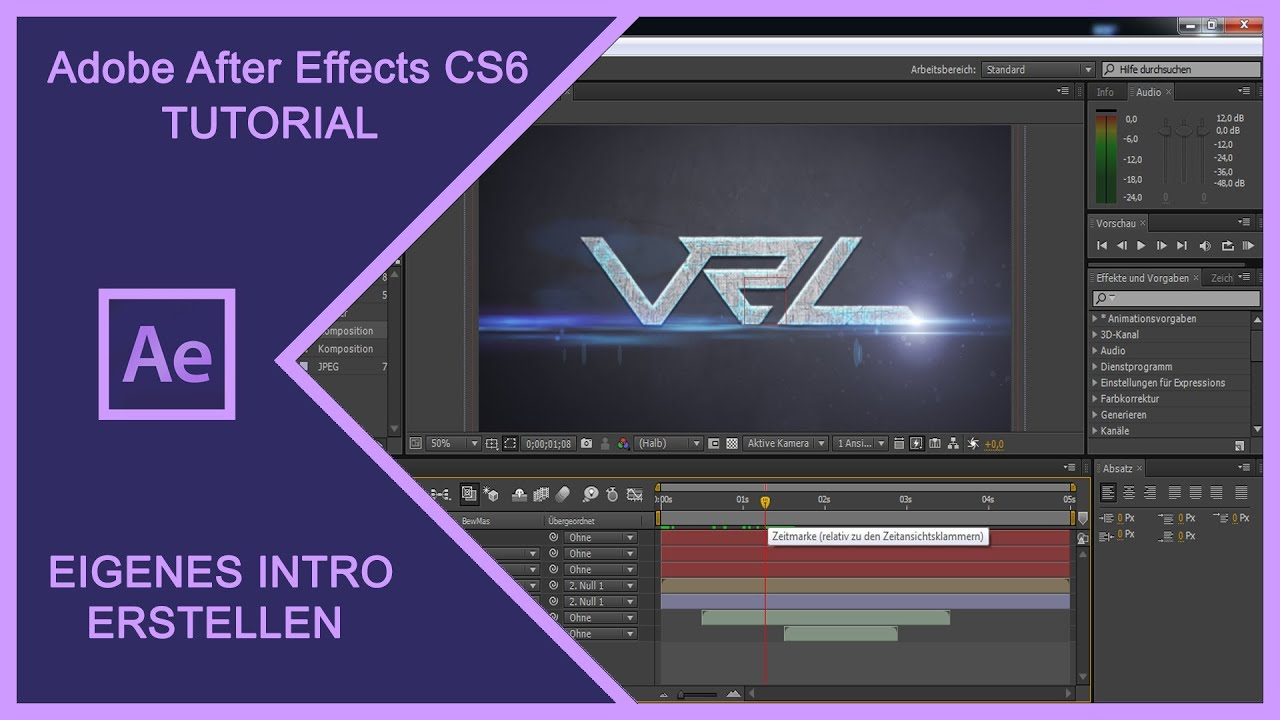 ADOBE AFTER EFFECTS CS6 - VIDEO INTRO DESIGN Erstellen /Selber ...