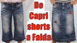 De Capri Shorts a Falda con Parche