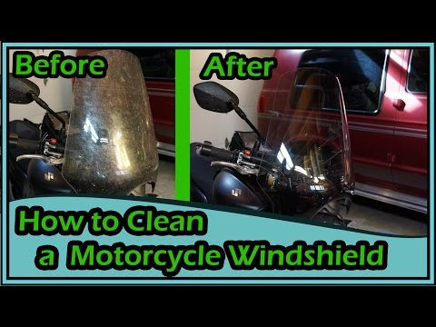 How to Clean a Motorcycle Windshield & Headlight: Cheap and Easy