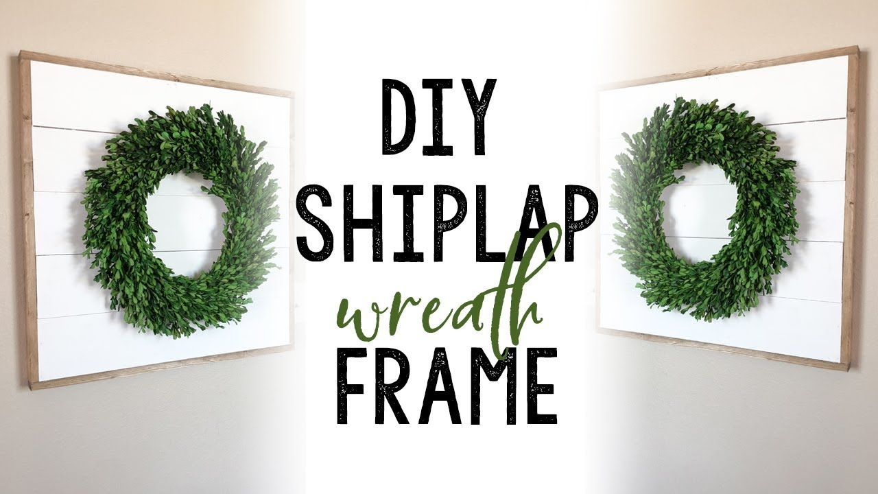 DIY Shiplap Wreath Frame - YouTube