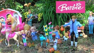 Barbie and Ken Fall Story with Barbie Horse Stables, Farm Hospital, Tree House and Elsa and Anna