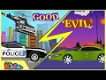 Police Car War   Good vs Evil    Scary Street Vehicles   Kids Videos