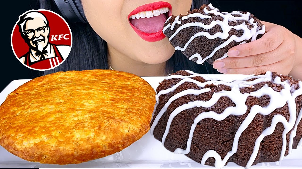 ASMR KFC DOUBLE CHOCOLATE CAKE & CHICKEN POT PIE (NO TALKING) Eating Sounds | ASMR Phan