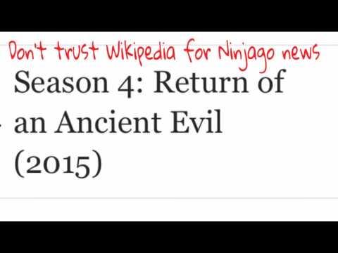I would NOT trust Wikipedia for Ninjago News