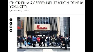 """""""Chick-fil-A's Creepy Infiltration of New York City"""" New Yorker"""