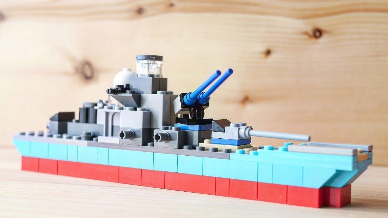 building a simple LEGO battleship using classic 10698
