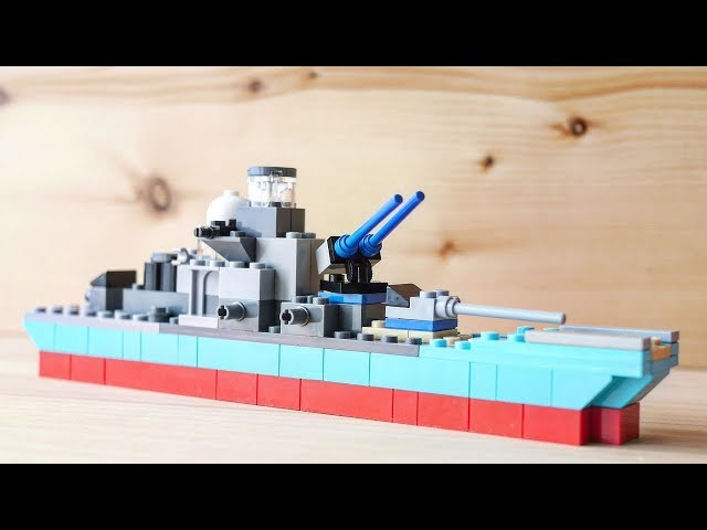 building a simple LEGO battleship using classic 10698