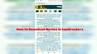 HOW TO DOWNLOAD LATEST MOVIES FROM TAMILROCKERS / TAMILMV