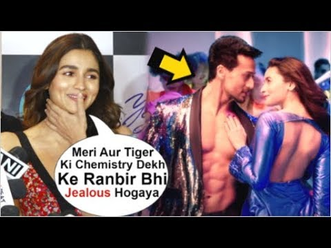 Alia Bhatt BLUSHES When Asked About HOT Chemistry With Tiger Shroff In Soty 2 Hook Up Song