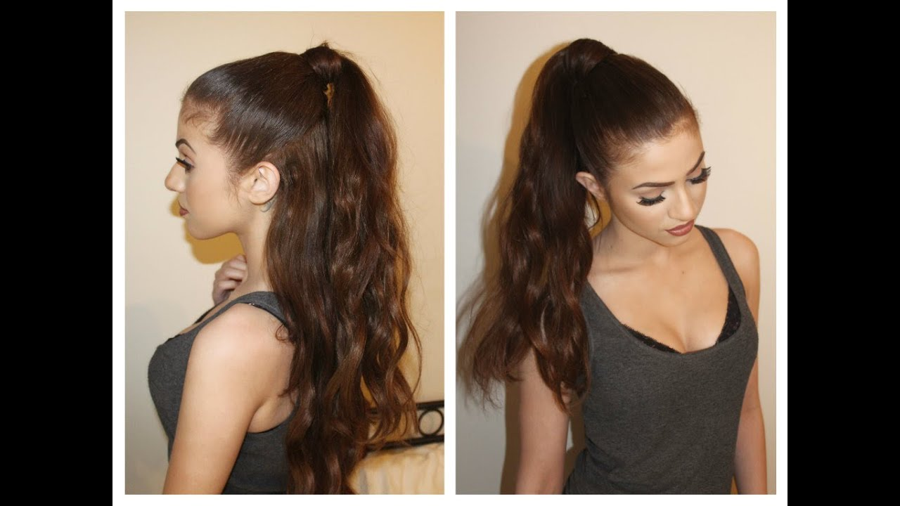 hair tutorial perfect pony