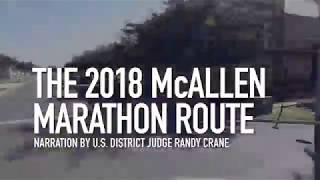 The 2018 McAllen Marathon Scott Crane Memorial Run Route