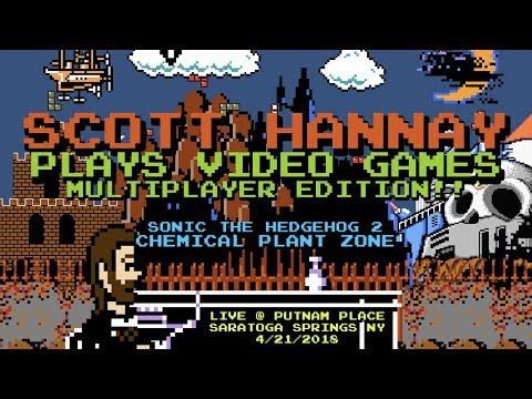 Scott Hannay Plays Video Games - Chemical Plant Zone (Sonic 2) - Multiplayer Edition LIVE