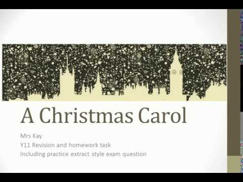 A Christmas Carol   Good People exam question
