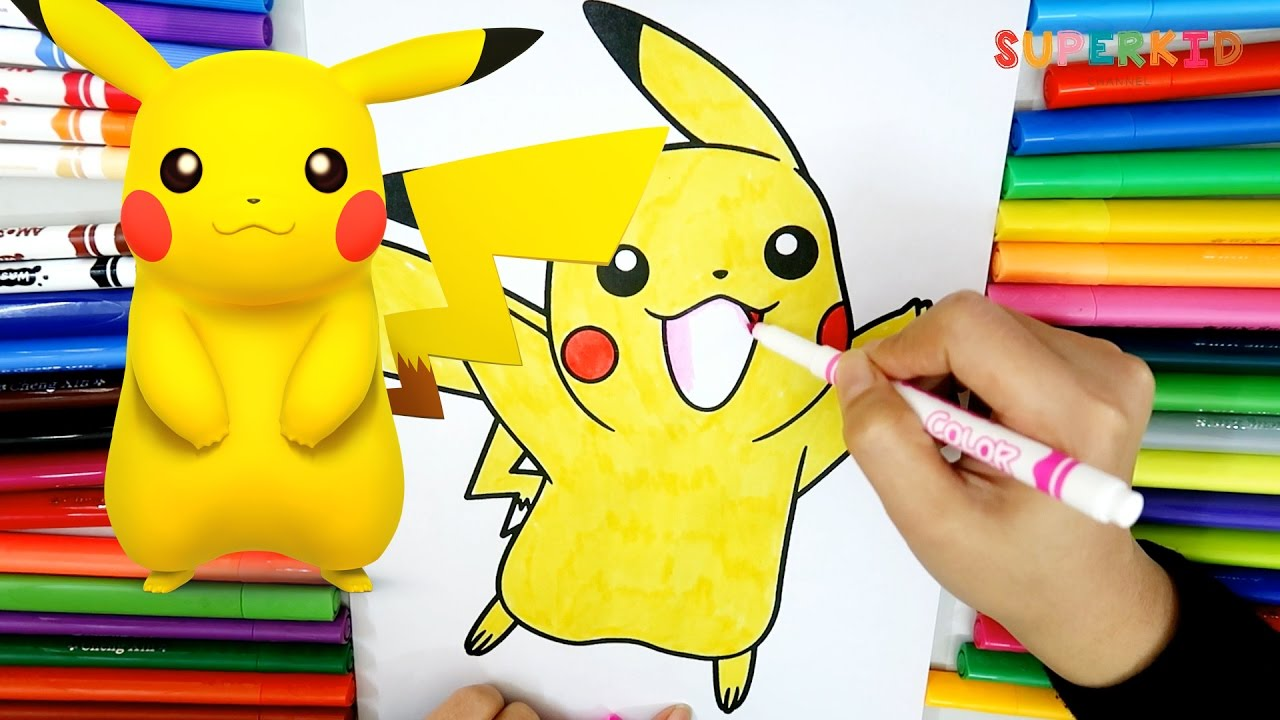 Pikachu coloring pages Learning