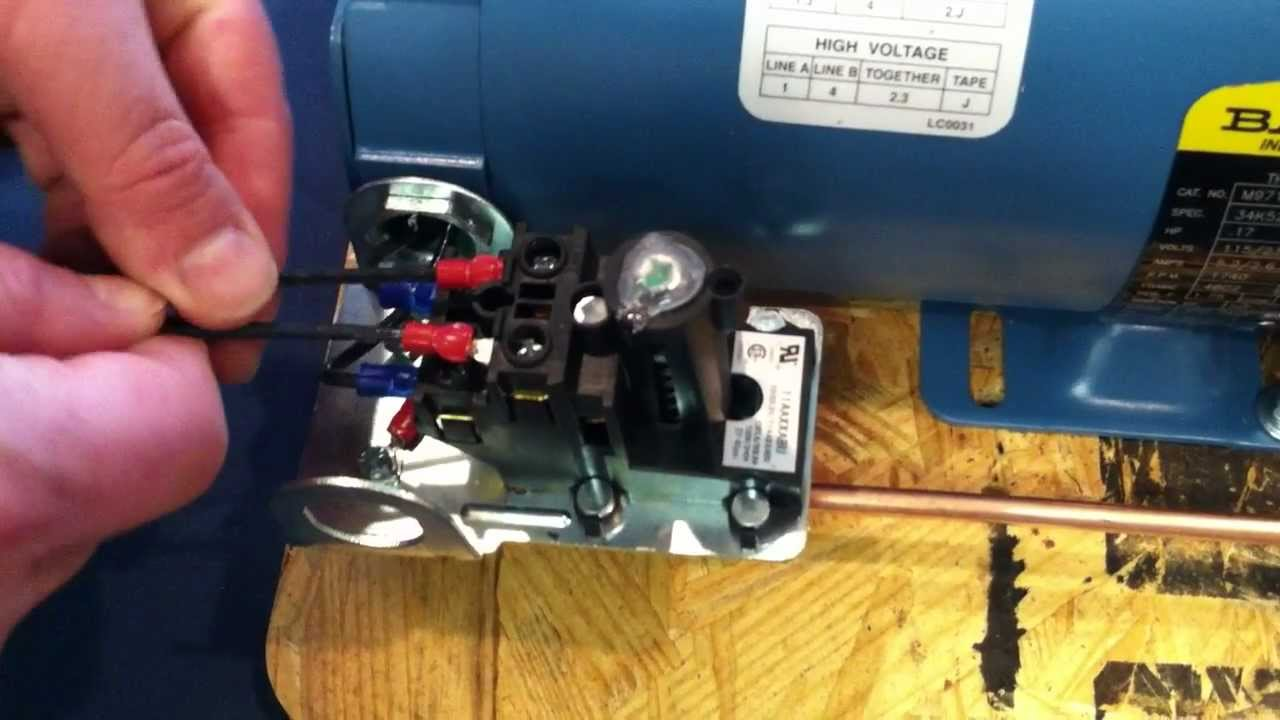 small resolution of proper installation wiring procedure wiring to the air compressor s pressure switch youtube