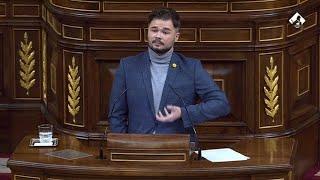 Rufián pide no responsabilizar a jóvenes de disturbios por Hasél