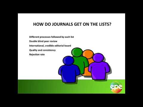 Selecting a Journal for your publication Part 2: Accreditation and Open Access