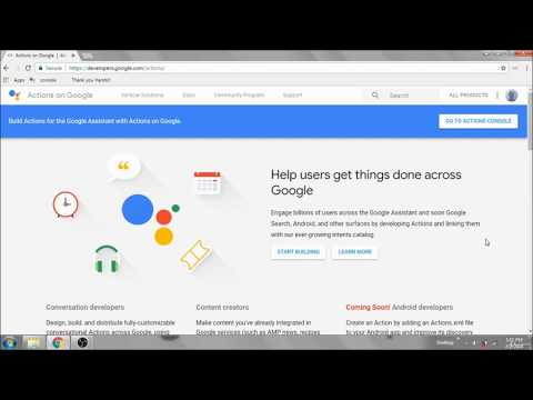 LEARN GOOGLE ASSISTANT DEVELOPMENT AND BECOME A PRO! – 2019 || DIVYANSH AGARWAL thumbnail