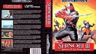 Shinobi 3 Return of the Ninja Master - Blind - Sega Megadrive collection - PS3 Gameplay