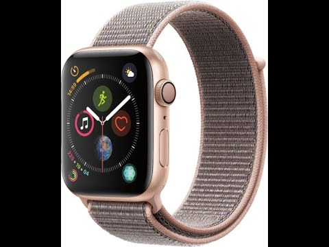 reputable site 3a864 ee323 Unboxing Apple Watch Series 4 44mm GPS Gold Pink Sand Sport Loop