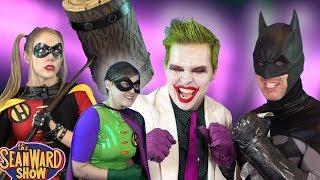 BATMAN, JOKER in HARLEY QUINN, THE GIRL WONDER - Epic Parody! The Sean Ward Show