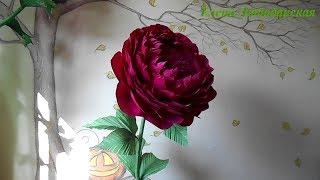 як зробити квітку великий з гофрованого паперу
