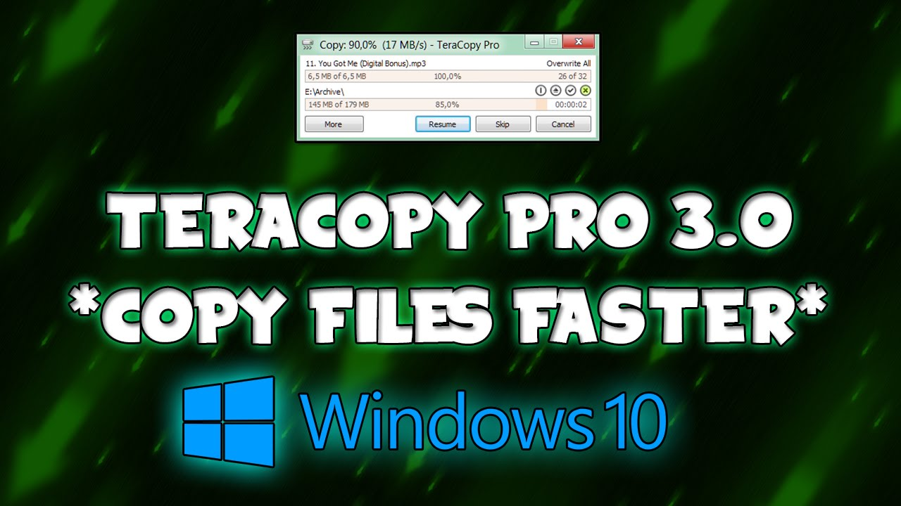 Copy files faster] teracopy pro 3. 0 alpha 5 [windows 10 support.