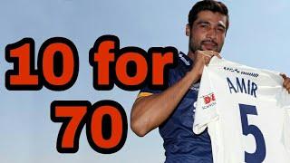 Muhammad amir 10 wicket haul against Yorkshire