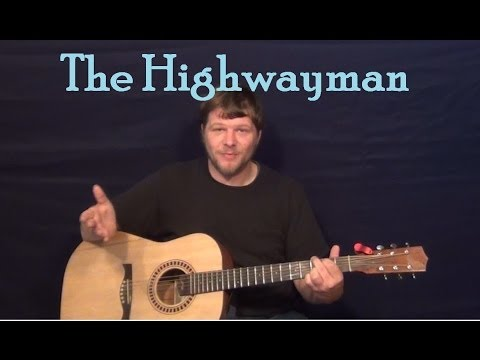 The Highwayman (The Highwaymen) Easy Guitar Lesson How to Play Tutorial