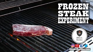 Grilling A Steak from Frozen Experiment