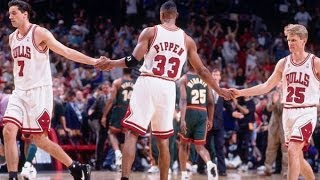 Bulls vs. Sonics - 1996 NBA Finals Game 6 (Bulls win 4th championship)
