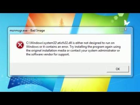 "How do I remove/fix ""Bad Image"" error pop up"